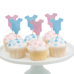 Cupcake Toppers Little Lady or Mini Mister,12-pak