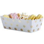 Food Trays - Gold Dots