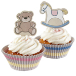 Cupcake form & toppers kit - Lullaby, 70 dele
