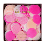 Party confetti, pink