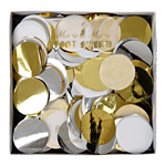 Party confetti, metallic