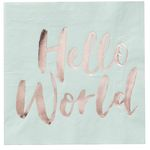 Servietter - Hello World - 20 pak