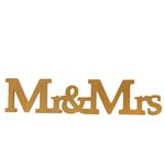 Mr & Mrs Borddekoration - Gold