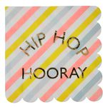 Servietter - Happy Bunny - Hip Hop Hooray - 16 pak