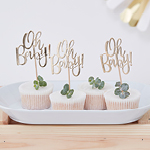 Cupcake Toppers - Oh Baby! - 12 pak
