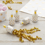 Party Poppers - Guld - 25 pak
