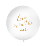 Oversize ballon, Love is in the air, hvid 90-100cm