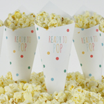 Kræmmerhus til popcorn, Baby Shower, Dots Multi