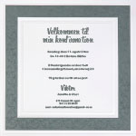 Invitation, Elegant Border, grey, konfirmation