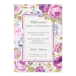 Invitationskort, Delightful Blooms, konfirmation