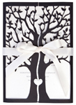 Invitationskort,Tree of love, sort
