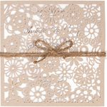 Invitationskort, Vintage Lace natur