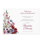 Invitationskort, Dazzling Flowers, konfirmation