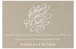 Save-the-date,<br>Vintage Impression, natur