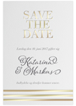 Save-the-date,<br>Golden Stripes