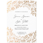 Invitationskort, Feuille d'or