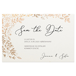 Save-the-date, Feuille d'or