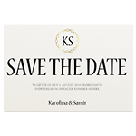 Save-the-date, Chaïne Monogramme
