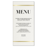 Menu, Modern Stripes