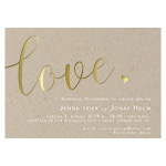 Invitationskort, Rustic Love