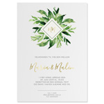 Invitationskort, Feuille Moderne