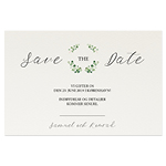 Save-the-date, Couronne Vert