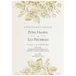 Invitationskort, Fleurs d'Or