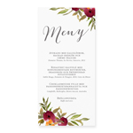 Menu, Happy Flowers