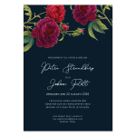 Invitationskort, Blooming Red Roses