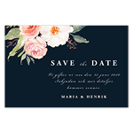 Save-the-date, Blooming Pink Roses