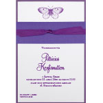 Invitationskort, purple passion, 125x185 mm.