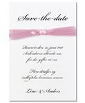 Save-the-date kort, Pink Vogue