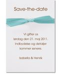 save-the-date kort, tiffany dream 84053sd