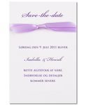 Save-the-date kort, Wild Orchid