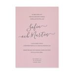 Unique Levigato rosa, invitationskort enkeltsidet