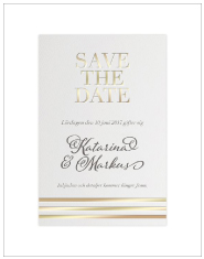 Save-the-date Golden stripes